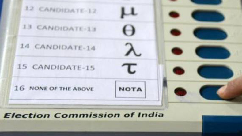 BJP says remove NOTA EC says it's effective since 2014