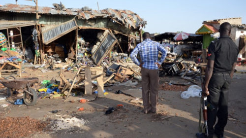 Nigeria market attack: Scores feared killed by suspected Boko Haram suicide bombers