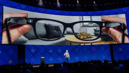 Facebook is developing augmented reality glasses