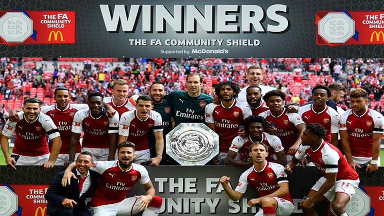 FA Community Shield: Arsenal wins 'battle of wits' against Chelsea