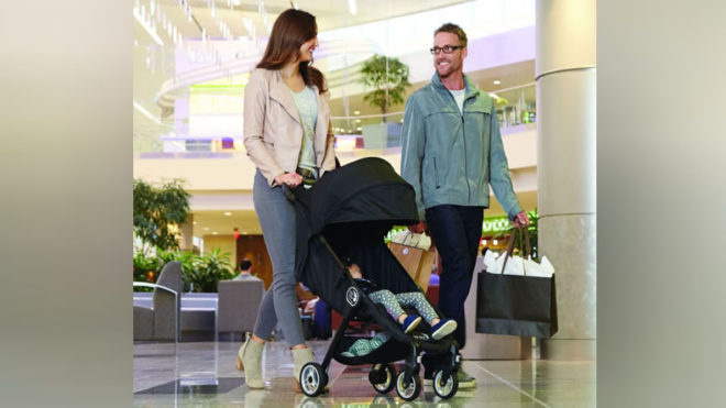 Carry baby stroller, breast pump when travelling with babies