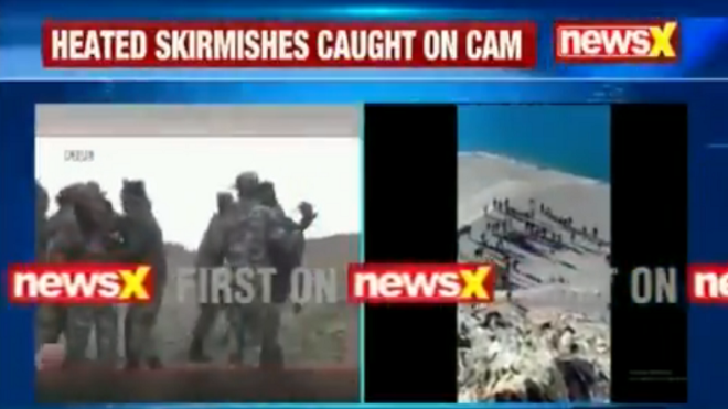 Video surfaces of Indian-Chinese soldiers' scuffle in Ladakh