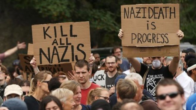 Thousands march in US state one week after Charlottesville