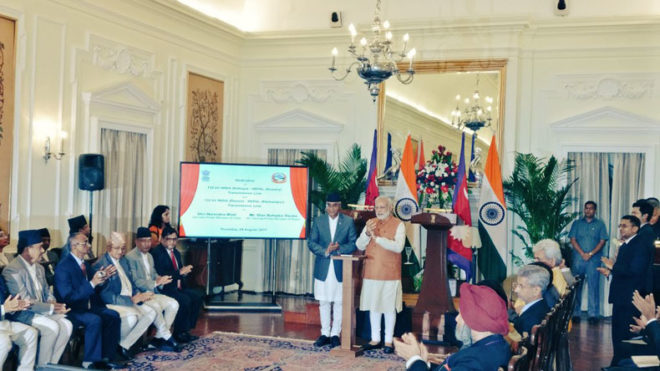 India and Nepal pen 8 agreements