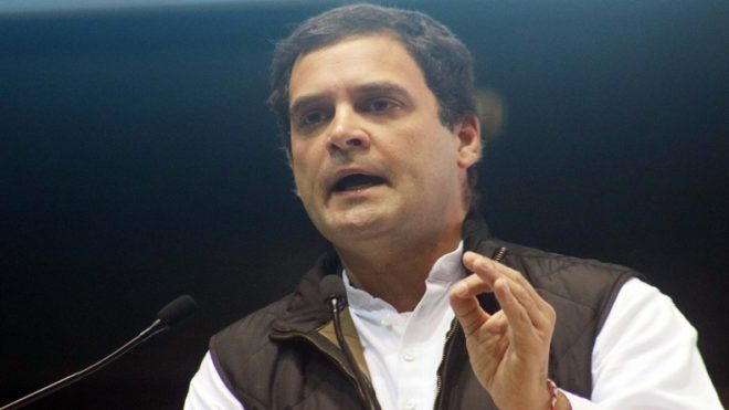New Delhi: Congress Vice President Rahul Gandhi addresses at  Jan Vedna convention of the party in New Delhi on Jan 11, 2017. (Photo: IANS)