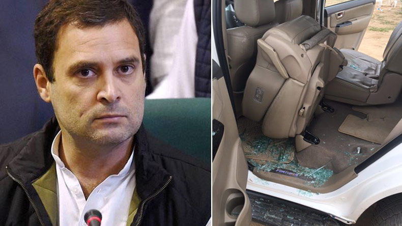 Rahul Gandhi's convoy attacked: Four including BJP local leader detained by Gujarat Police