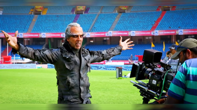 Watch: Akshay Kumar and Rajinikanth are mind-blowing in '2.0' making video!