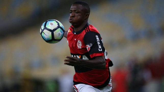 Real Madrid-bound Vinicius Jr nets brace for Flamengo