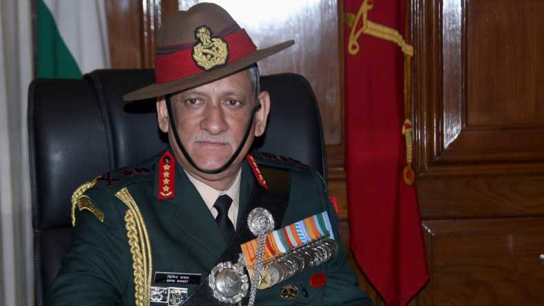 Remember history, China tells India onArmy Chief's two-front war statement