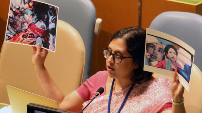 Exposing Pak's goof up at UNGA, India raises 'real' picture of Lt Umar Fayaz