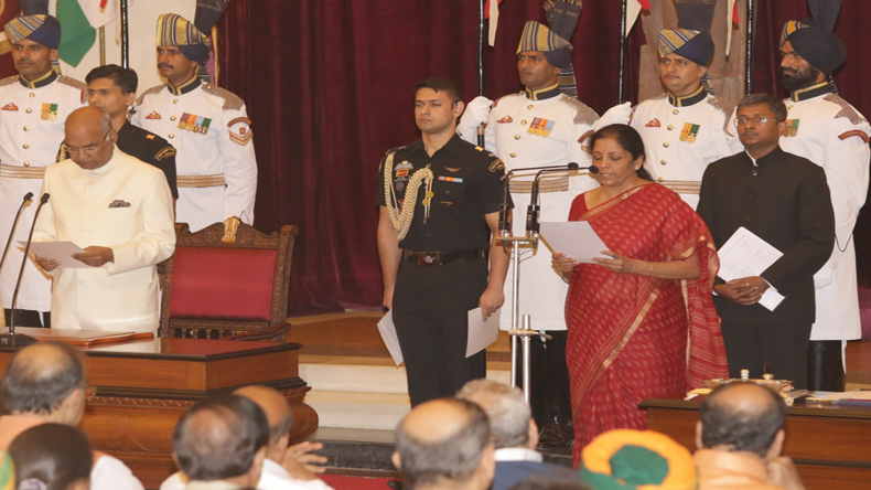 Nirmala Sitharaman to take charge as Defence Minister on Thursday