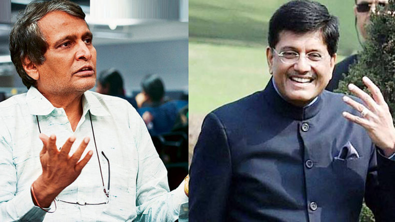 Piyush Goyal likely to replace Suresh Parbhu as Railway Minister