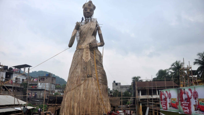 Guwahati: 101-feet tall Durga Idol to enter 'Guinness book of records'