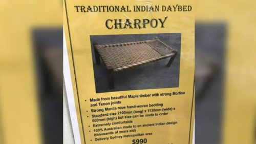 What! This Australian made charpoy being sold at $990