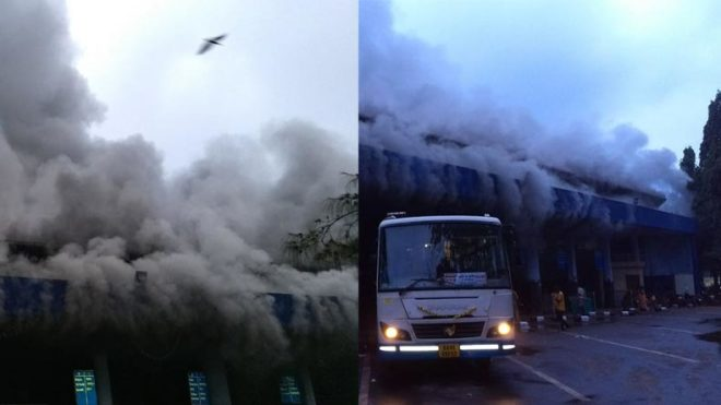 Goa: Massive fire at Panaji's KTC bus stand; RTO office, other shops in vicinity damaged