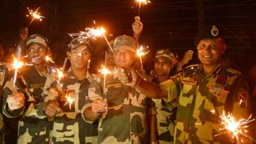 Ceasefire does not dampen the spirit of soldiers at LoC on Diwali
