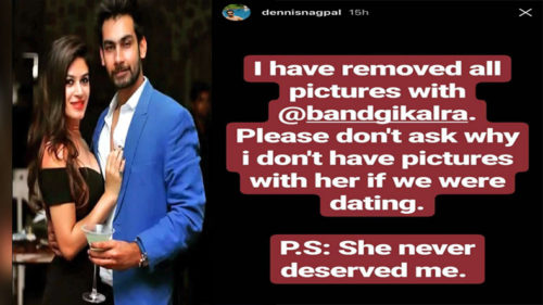 Bigg boss 11: Bandagi Kalra 's excessive PDA with Puneesh Sharma irks boyfriend Dennis Nagpal; dumps her on Instagram