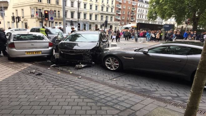 Car accident outside London's Natural History Museum leaves several injured, 1 arrested