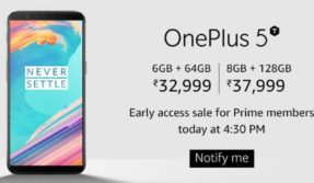 OnePlus 5T exclusive sale on Amazon India starts at 4.30PM today: Check specifications, price, and special offers here