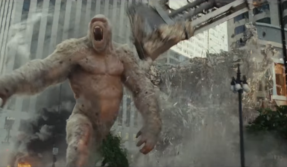 RAMPAGE trailer: Dwayne Johnson 'The Rock' saves Chicago from a monstrous ape and a gigantic wolf
