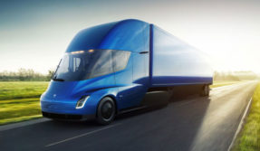 Meet the new Tesla semi truck that runs on electricity