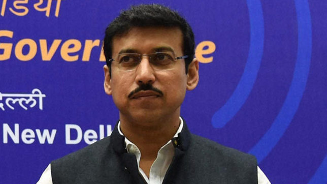 No problems if cricketers dope tested by WADA:  Sports Minister Rajyavardhan Singh Rathore