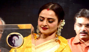 Rekha receives first Smita Patil Memorial Award