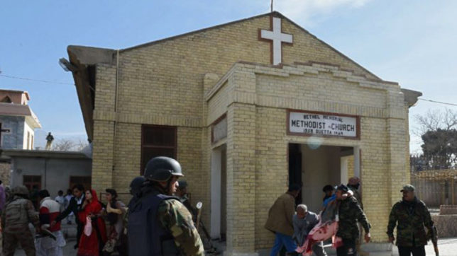 9 dead, 30 injured in Pakistan church attack, IS claims responsibility