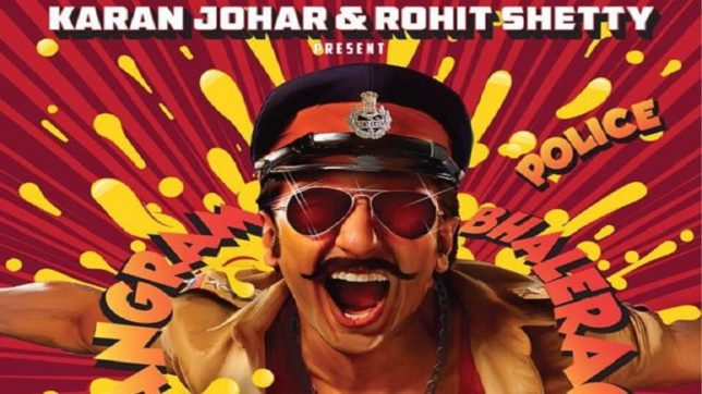 Simmba first poster out: Ranveer Singh brings retro back in his cop avatar