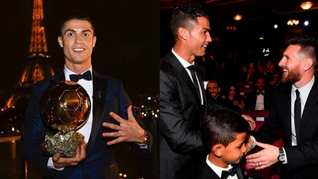Real-Madrid's-Cristiano-Ronaldo-wins-fifth-Ballon-d'Or-to-complete-decade-of-domination-with-Barcelona's-Lionel-Messi