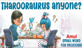 Tharooraurus anyone?  Amul takes a comedic dig at Shashi Tharoor's love for linguistics