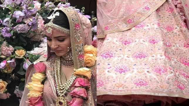 anushka sharma wedding lehenga