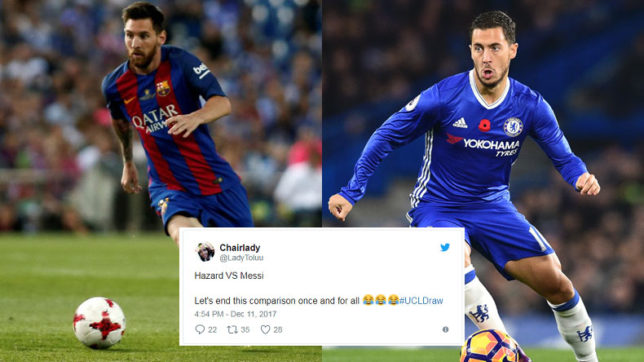 Hazard vs Messi, sorry Arsenal: Twitter reacts on Champions League last 16 draw