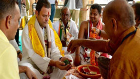 Perhaps Rahul Ghandhi should visit mosques and churches as well