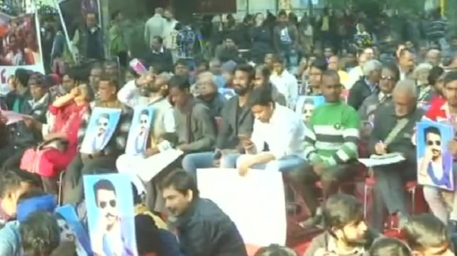 Mevani's Hunkar rally underway in Delhi's Parliament Street