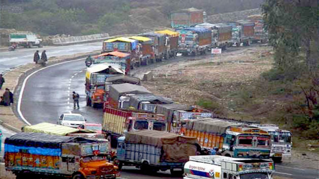 Jammu-Srinagar highway re-opened for vehicular traffic
