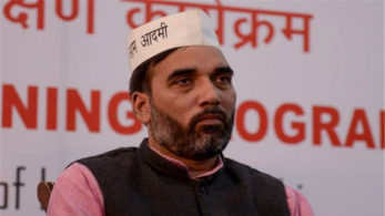 AAP's Gopal Rai and volunteers took out a march and burned an effigy at ITO junction.