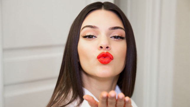 Model and reality TV star Kendall Jenner turns blonde for TV ad