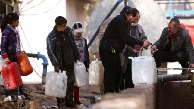 Water supply cut off in IS stronghold in Syria