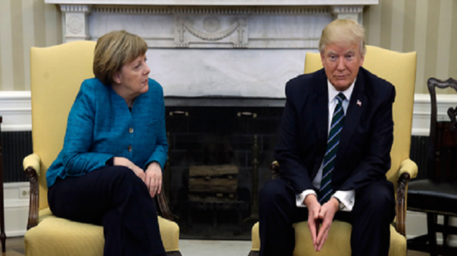Donald Trump, Angela Merkel 'get along very well': White House
