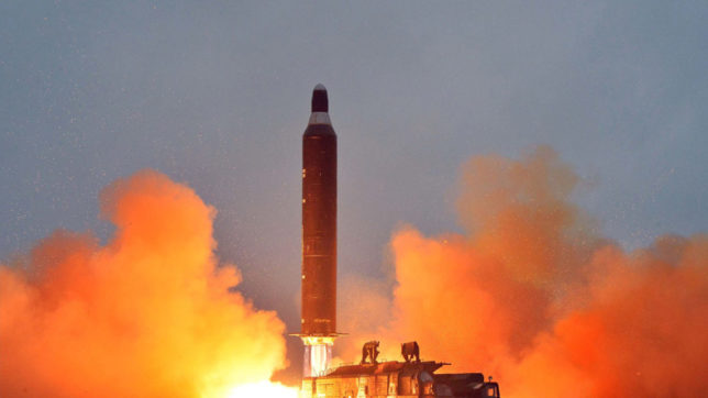 North Korea condemns US test launch of ICBM