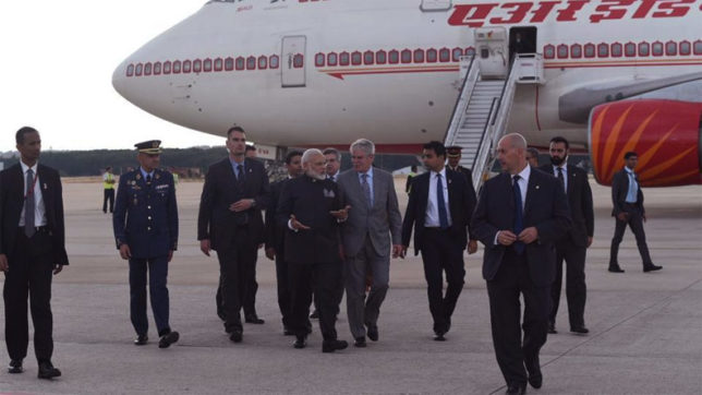 PM Narendra Modi arrives in Spain on second leg of four-nation tour