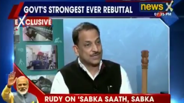 Our government is trying to fulfil expectations of people: Rajiv Pratap Rudy to NewsX