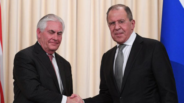 Rex Tillerson and Russian FM Lavrov discuss Syrian settlement by phone