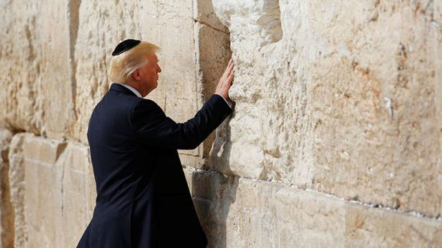 In a first for a sitting US President, Trump offers prayers at the Western Wall