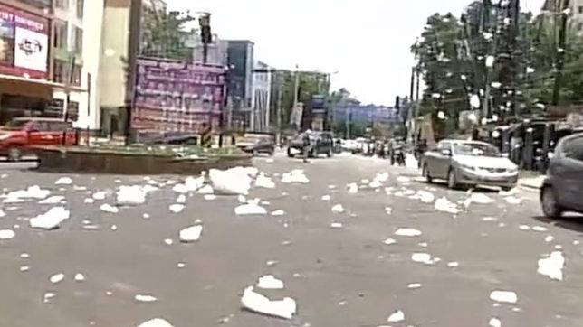 Foam from heavily polluted Varthur Lake spreads in Bengaluru