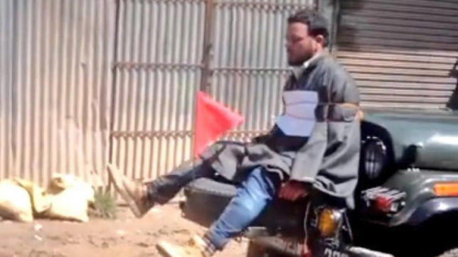 Major who tied Kashmiri protester to his jeep as a 'human shield' honoured by Army