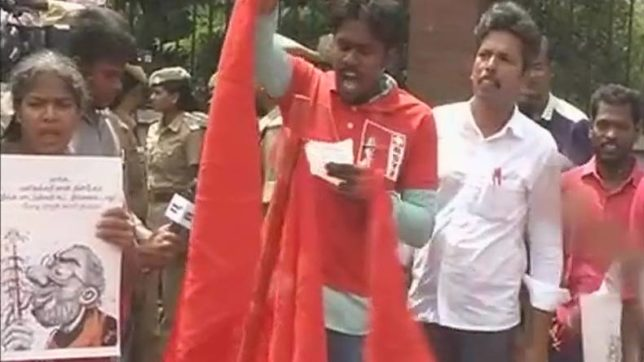 Students of IIT Madras protest over Centre's cattle ban order