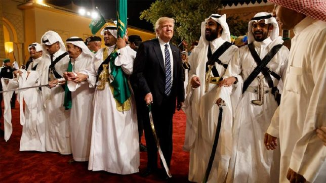 Trump participates in Saudi Arabian sword dance