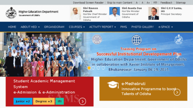 DHE Odihsa plus 2 Admission First Merit List 2017 released @ dheodiaha.gov.in